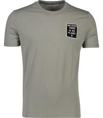 ecoalf t-shirt 'natal because' dark khaki