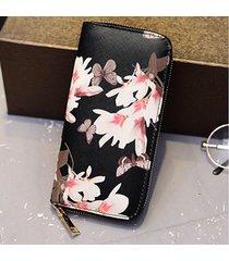 donna stampa fiore elegante portafogli portafogli portafoglio