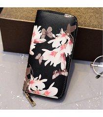 portafoglio porta carte elegante da donna con stampa floreale