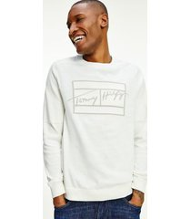 tommy hilfiger men's signature relaxed fit sweatshirt white - xxxl