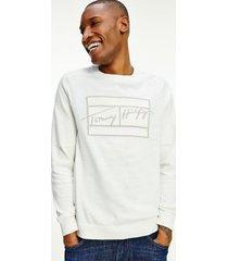tommy hilfiger men's signature relaxed fit sweatshirt white - xxxl