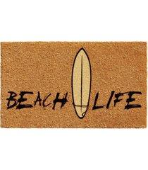 """beach life 17"""" x 29"""" coir/vinyl doormat bedding"""