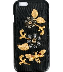 dolce & gabbana crystal embellished iphone 6 case - black
