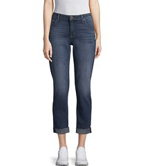 flood express straight cropped jeans