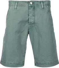 jacob cohen twill bermuda shorts - green