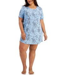 jenni plus size short sleep shirt nightgown, created for macy's
