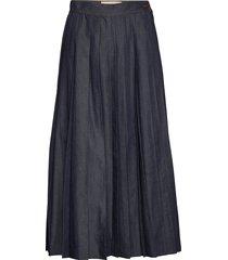 nettare knälång kjol blå weekend max mara