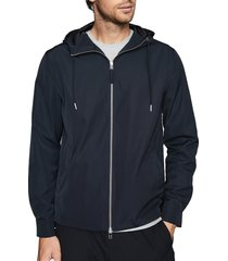 men's reiss zenif hooded jacket, size x-large - blue