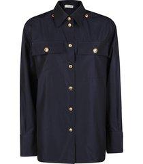 givenchy midnight blue cotton shirt