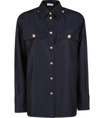 givenchy midnight blue cotton shirt