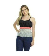 blusa tricot sofia iv feminina shopping do tricô verão regata