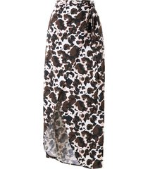 brigitte melissa animal-print beach skirt - multicolour