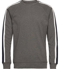 cotton rib melange stelt tape sweat-shirt trui grijs mads nørgaard