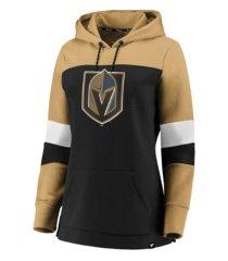 majestic vegas golden knights women's colorblocked fleece sweatshirt