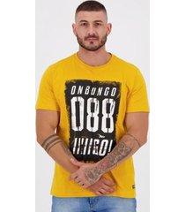camiseta onbongo estampada 88 amarela - masculino
