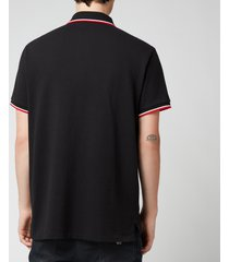 polo ralph lauren men's mesh tipped polo shirt - polo black - xxl