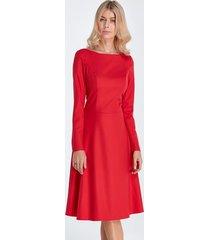 sukienka elegancka midi czerwony