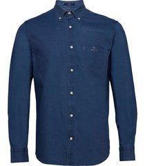 d1. indigo royal oxford reg bd overhemd casual blauw gant