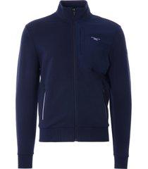 ac36 presented by prada x north sails muriwai stretch fleece cardigan | blue/navy | 451012-802