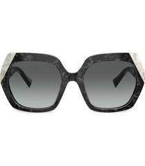 alain mikli oversized sunglasses - black