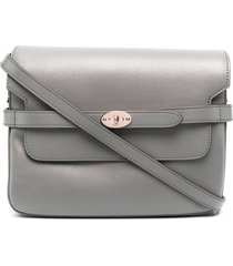 mulberry belted bayswater satchel - grey