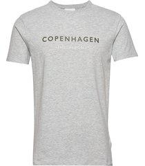 city print tee s/s t-shirts short-sleeved grå lindbergh
