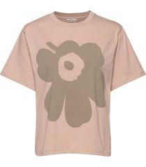 vaikutus unikko t-shirt t-shirts & tops short-sleeved beige marimekko