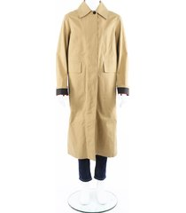 burberry bonded poplin single-breasted car coat men's