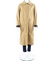 burberry bonded poplin single-breasted car coat men's