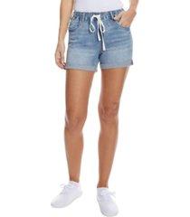dollhouse juniors' pull-on drawstring jean shorts