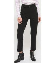 pantalón ash jogger recto negro - calce regular