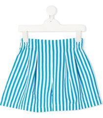 monnalisa striped fitted shorts - white