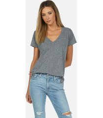 manny core v-neck tee - heather grey l