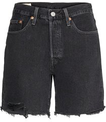 501 mid thigh short lunar blac shorts denim shorts svart levi´s women