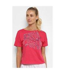 camiseta puma hit feel it feminina