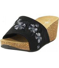 sandalia bordado negro nara
