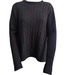 sweater negro zaf ancho