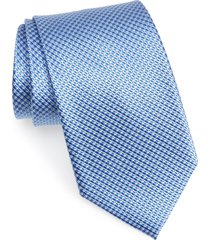 men's nordstrom men's shop grid silk x-long tie, size x-long x-long - blue
