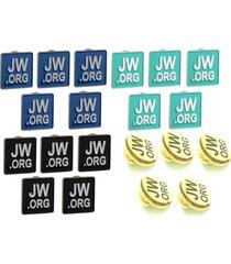 jw.org lapel pins square tie pins set of 5