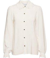 eliza sleeve shirt blus långärmad vit designers, remix