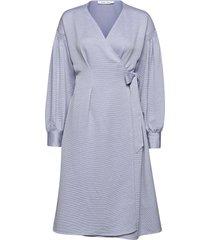 merrill dress 11242 knälång klänning blå samsøe samsøe