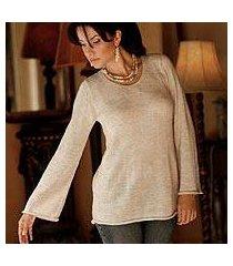 alpaca blend sweater, 'charisma' (peru)