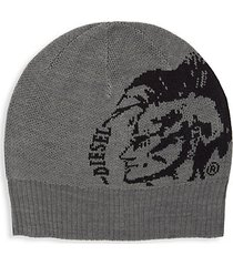 graphic knit beanie