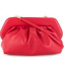 themoirè pleated design clutch bag - red