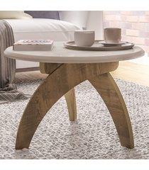mesa de centro jade off white c/pinho - artely