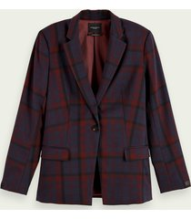 scotch & soda langere geruite blazer