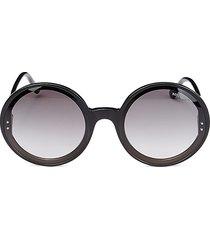 bottega veneta women's 60mm core round sunglasses - black
