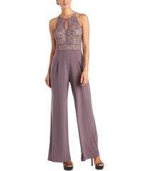 nightway lace wide-leg jumpsuit