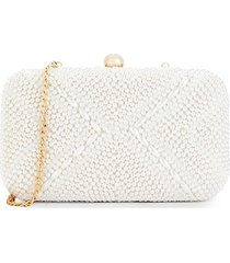 la regale women's faux pearl-embellished convertible clutch - ivory