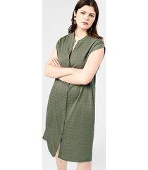 getextureerde jurk met knopen